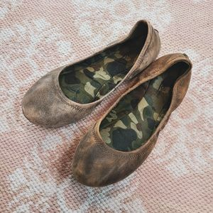 Lucky Brand Brown Leather Ballet Flats Size 9½